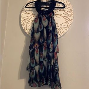 Forever 21 peacock feather cocktail dress
